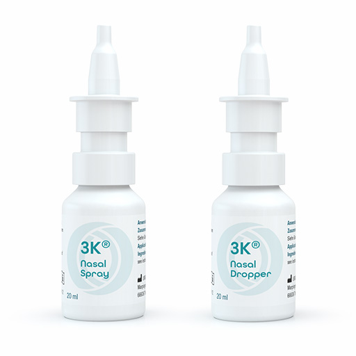 3K® Nasal Spray and Dropper - Dosage system for the preservative-free application of nasal pharmaceutical formulations as well as medical devices