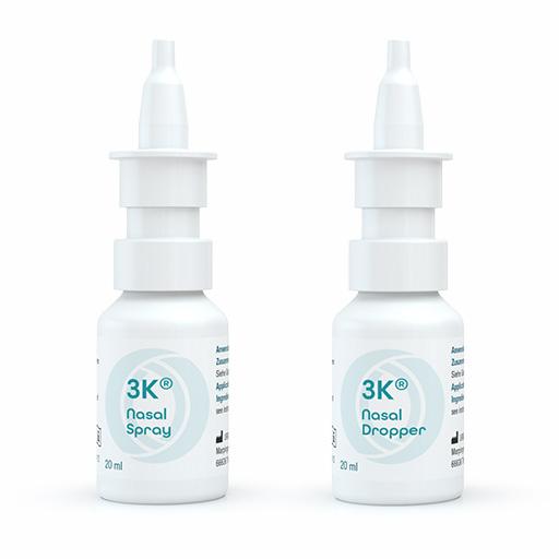 3K® Nasal Spray and Dropper- Dosiersysteme zur konservierungsmittelfreien Anwendung von nasal anwendbaren pharmazeutischen Formulierungen sowie Medizinprodukten