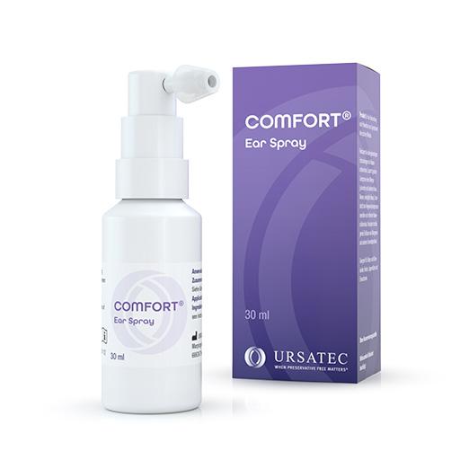 COMFORT® Ear Spray - Dosiersystem zur konservierungsmittelfreien Anwendung von otologisch anwendbaren pharmazeutischen Formulierungen sowie Medizinprodukten