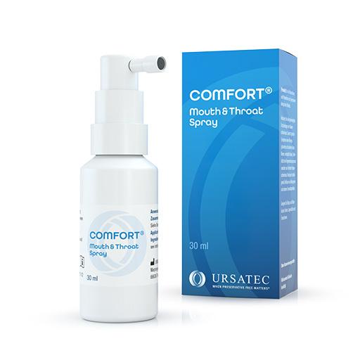 COMFORT® Mouth and Throat Spray - Dosiersystem zur konservierungsmittelfreien Anwendung pharmazeutischer Formulierungen für den Bereich Mund und Rachen sowie für Nahrungsergänzungsmittel und Medizinprodukte