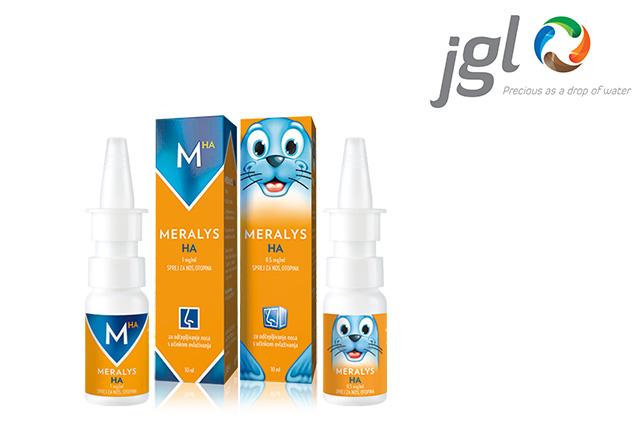 JGL verwendet unser innovatives Dosiersystem 3K® Nasenspray für das konservierungsmittelfreie Arzneimittel MERALYS HA