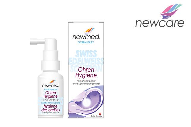 New Care AG verwendet unser innovatives Dosiersystem 3K® Ohrenspray für das konservierungsmittelfreie Medizinprodukt newmed® Ohren-Hygiene
