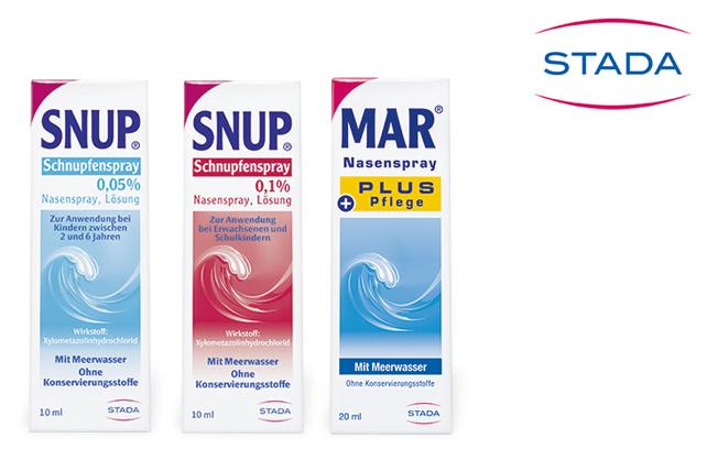 STADA verwendet unser innovatives Dosiersystem 3K® Nasenspray für die konservierungsmittelfreien Produkte SNUP und MAR.