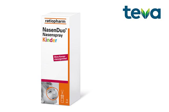Teva verwendet unser innovatives Dosiersystem 3K® Nasenspray für das konservierungsmittelfreie Arzneimittel ratiopharm NasenDuo® Nasenspray Kinder
