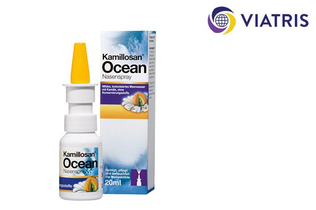Mylan verwendet unser innovatives Dosiersystem 3K® Nasenspray für das konservierungsmittelfreie Medizinprodukt Kamillosan® Ocean Nasenspray